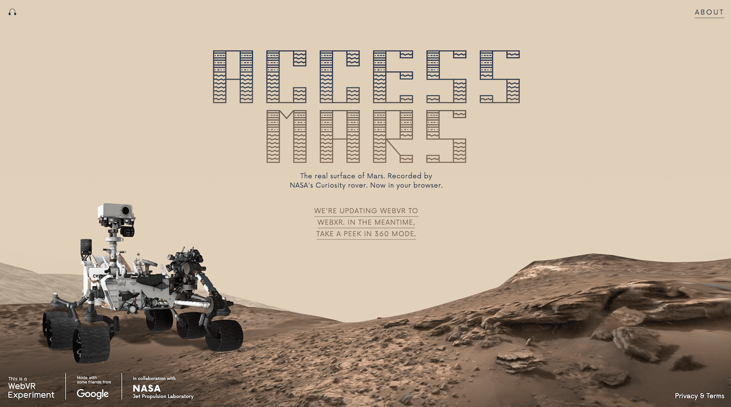 Drive a rover on mars with NASA