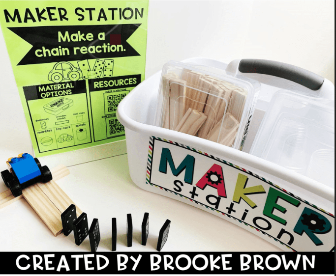 Keep Your Elementary Student Learning with 3 Weeks of Maker Stations