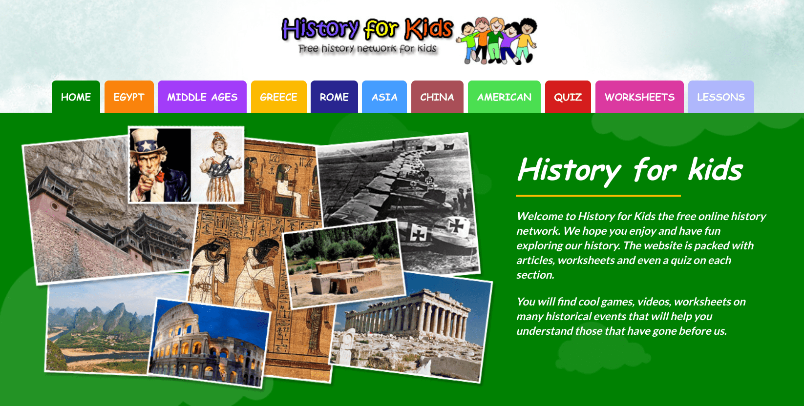 History for Kids: the Free Online History Network