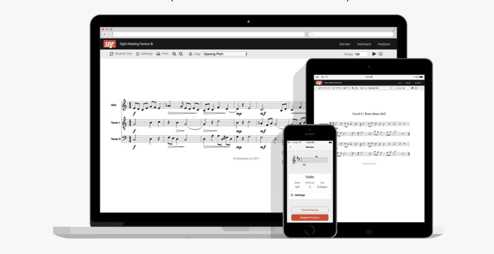 Sight reading practice made easy