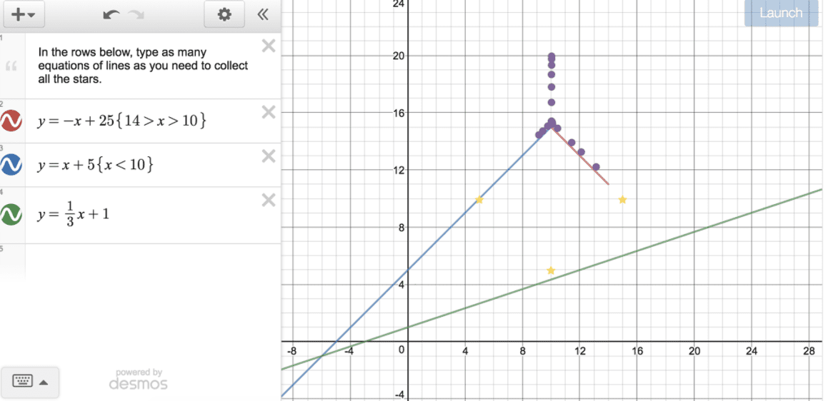 Desmos helps students visualize math problems