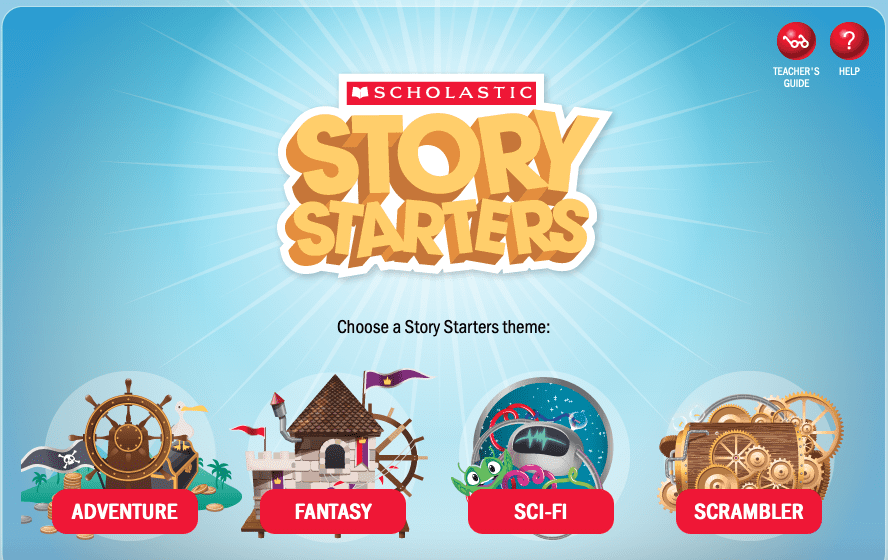 Scholastic Story Starters help students think and write creatively